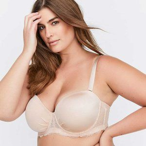 NWT  Deesse Plus Size 44 DDD strapless convertible